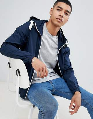 Pull&Bear hooded jacket in navy