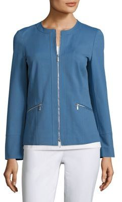 Lafayette 148 New York Arian Collarless Jacket $548 thestylecure.com