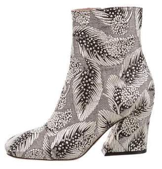 Dries Van Noten Metallic Jacquard Ankle Boots w/ Tags