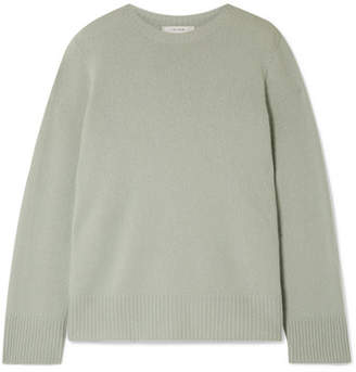 The Row Sibel Oversized Wool And Cashmere-blend Sweater - Sage green