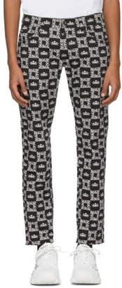 Dolce & Gabbana Black Crown Trousers