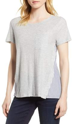 Vince Camuto Mix Media Tee (Regular & Petite)