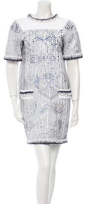 Chanel Metallic Shift Dress w/ Tags