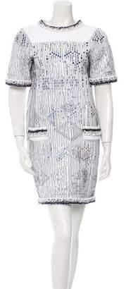 Chanel Metallic Shift Dress w/ Tags