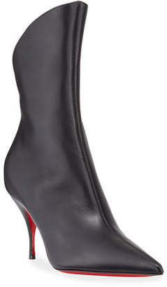 Christian Louboutin Clare Pointed-Toe Red Sole Booties