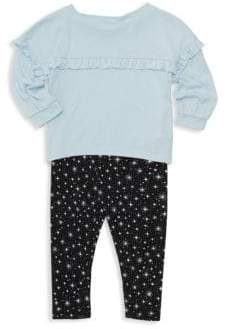Splendid Baby Girl's Two-Piece Ruffled Top& Star-Print Leggings Set