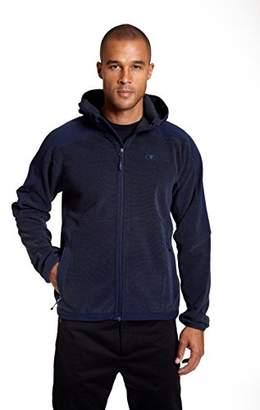 Champion Men's Hooded Textured Fleece Jacket