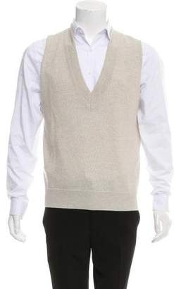 Dries Van Noten Wool V-Neck Sweater Vest