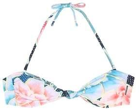 Mara Hoffman Knot Front printed bandeau bikini top