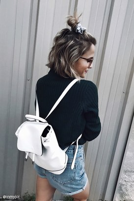 FOREVER 21+ Faux Leather Flap-Top Backpack $24.90 thestylecure.com