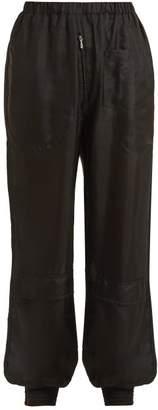 Katharine Hamnett Mid Rise Silk Habotai Trousers - Womens - Black