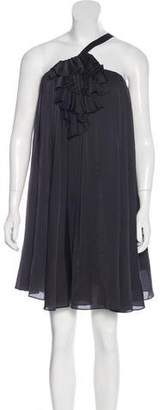 Elizabeth and James Ruffle-Accented Sleeveless Dress