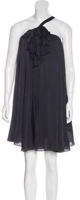 Elizabeth and James Ruffle-Accented Sleeveless Dress