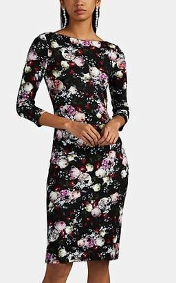 Erdem Women's Reese Floral Jersey Dress - Black Pat.