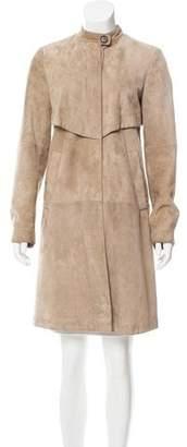 Brunello Cucinelli Suede Trench Coat