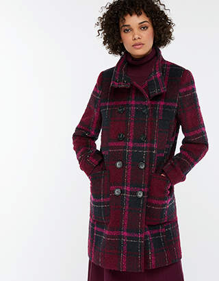 Louis Check Coat