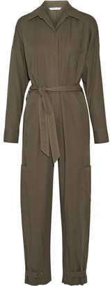 Helmut Lang - Cotton Jumpsuit - Army green $725 thestylecure.com