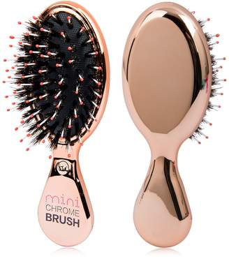 Glamorous Tiri Professional Chrome Boar Bristle No-Frizz Paddle Brush - Rose Gold