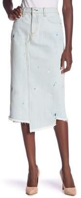 Rag & Bone Sukato Denim Paint Splatter Skirt