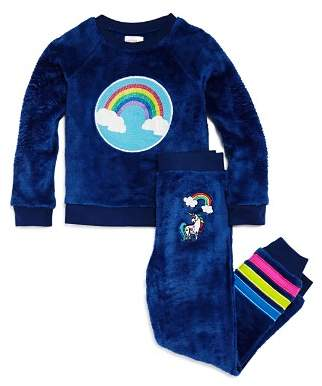 Dream Life Girls' Rainbow Unicorn Pajama Top & Pants Set - Little Kid, Big Kid