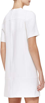 Lela Rose Seamed Crepe Tunic Dress