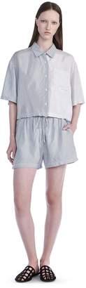 Alexander Wang Washed Stripe Viscose Shorts