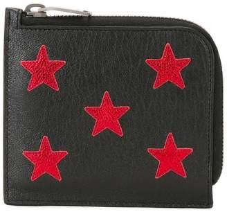 Saint Laurent star embroidered wallet
