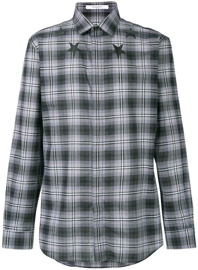 Givenchy star print checked shirt