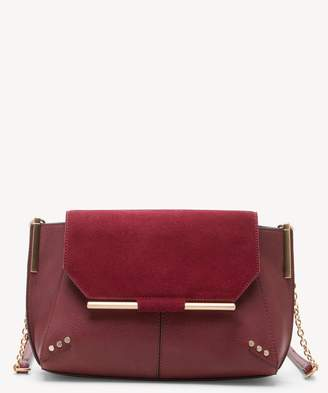Sole Society Chusy Crossbody Genuine Suede Mix Crossbody