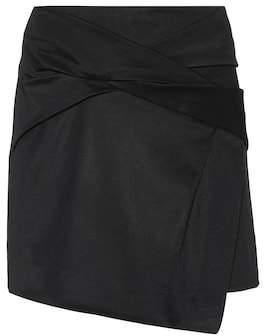 Helmut Lang Wrap-effect crêpe skirt