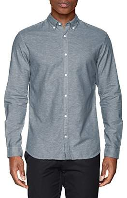 Jack and Jones Men's Jprsummer Shirt L/s Button Down STS Formal (White Fit:Slim Fit)