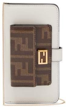 Fendi Baguette Iphone X Case Cross Body Bag - Womens - White Multi
