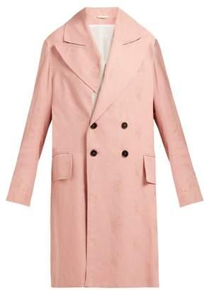 Ann Demeulemeester Alexa Rose Jacquard Oversized Cotton Blend Coat - Womens - Pink