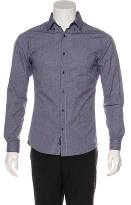 Michael Kors Slim-Fit Plaid Shirt