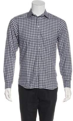 Givenchy Check Button-Up Shirt white Check Button-Up Shirt