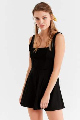 Urban Outfitters Square-Neck Ribbed Knit Romper