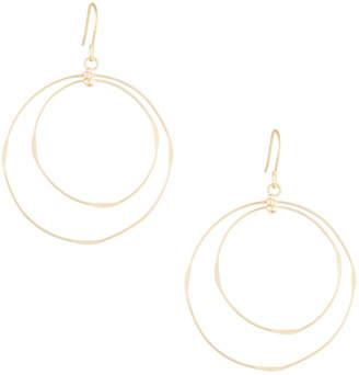 Panacea Double-Circle Wire Drop Earrings