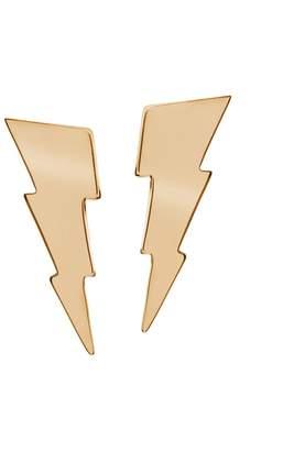 Edge Only - Triple Bolt Earrings Gold