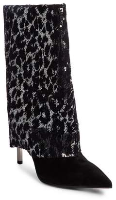 Balmain Babette Sequin Leopard Print Bootie