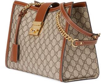 Gucci Padlock GG Supreme Canvas Medium Shoulder Bag