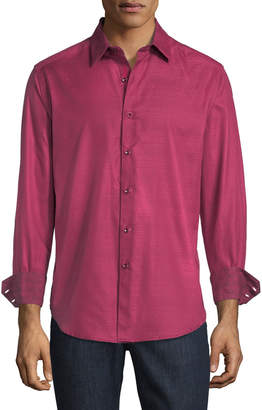 Robert Graham Lewiston Classic-Fit Jacquard Sport Shirt