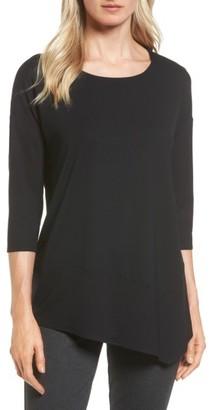 Women's Eileen Fisher Asymmetrical Jersey Tunic $128 thestylecure.com