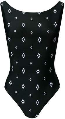 Marcelo Burlon County of Milan logo print swimsuit