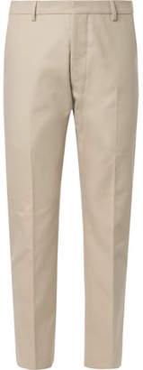 Ami Beige Cotton-Twill Suit Trousers - Beige