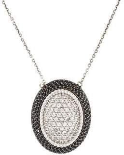 Jude Frances White Sapphire & Black Spinel Pendant Necklace