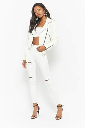 Forever 21 Ripped High-Rise Skinny Jeans