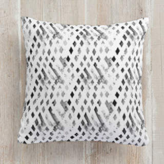Black Smack Square Pillow
