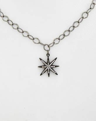 Rachel Reinhardt Plated Turquoise & Cz Star Necklace