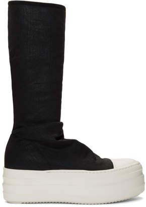 Rick Owens Black Double Bumper Sock Sneaker Boots