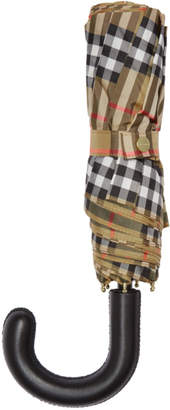 Burberry Beige Vintage Check Trafalgar Umbrella